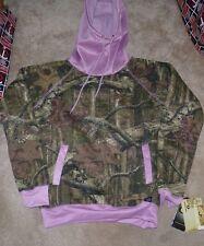 NEW YUKON GEAR Funnel Hoodie Hooded Sweatshirt Women Ladies S Pink Camo NWT