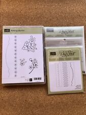 Stampin'Up BORDERING ON ROMANCE stamp,ADORNING ACCENTS Edgelits,Folders+FREEcard