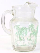 """""""Palm Tree Glass Pitcher"""""""