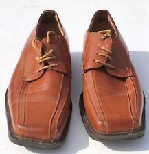 Para Hombre Goor Cuero Marrón Claro Laceup Zapatos-Talla 8-Excelente Estado