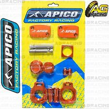 Apico Bling Pack Orange Blocks Caps Plugs Nuts Clamp Covers For KTM SXF 350 2015