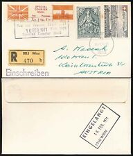 GB 1971 STRIKE MAIL to AUSTRIA...SPECIAL COURIER REGISTERED MAIL