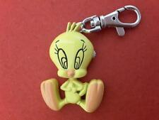 WARNER BROS Looney Tunes Tweety Bird Key Chain Clip Pocket Watch Keychain **
