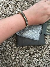 NWT Elizabeth Cole ADELIA CUFF Bracelet Swarovski Crystals $168 Retail POPSUGAR