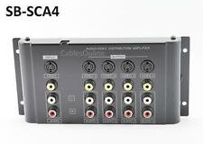 4-Way Composite 3-RCA + S-Video Distribution Amplifier, CablesOnline SB-SCA4