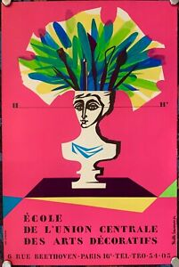Vintage Original Poster Ecole de l'union centrale des Arts Décoratifs, 1954