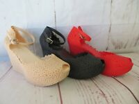 """New Women """"Sanibel"""" Jelly Peep Toe Wedge Ankle Buckle Strap  5-10 by Ann More"""