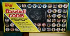 1990 Topps Baseball Coins Box Set (60) Coins in Tray