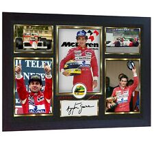 Ayrton Senna signed autographed photo print Formula1 F1 Grand Prix FRAMED