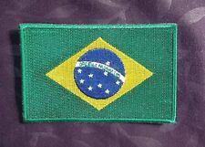 BRAZIL FLAG PATCH  BRAZILIAN FLAG BRASILIA EMBROIDERED RIO DE JANEIRO LATINO