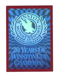 1991 Sports Marketing HOLOGRAM 20 Years of Winston Cup Champions SUPER SCARCE!
