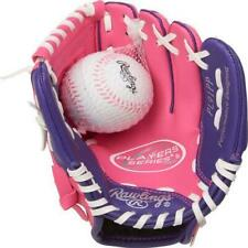Playmaker 9 Inch ~ Rawlings Youth Girls Pink Softball T-Ball Glove with Ball