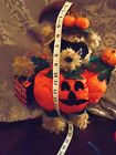 Primitive Folk Art Halloween  Pumpkin Bear Doll