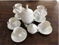 Rare Set Of 6 Coffee Tea Cup and Saucer Alt Tirschenreuth 1838 Germany