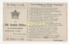 More details for 18th canadian battalion, sandling camp, kent, at duty's call, pc