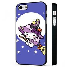 Hello Kitty Kitten Cute Witch BLACK PHONE CASE COVER fits iPHONE