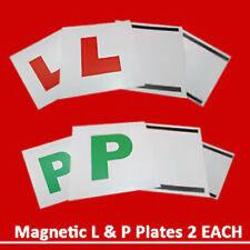 4 x Magnetic L & P Plates Exterior New Pass Car Learner Driver Reusable UK OTL
