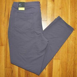 Nike Repel Slim Fit 5 Pocket Golf Pants Womens 14 AT3327-015 Purple New $100