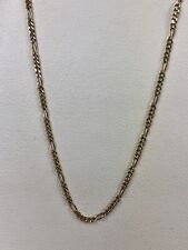 """Figaro Necklace 14K Yellow Gold 1.4 mm wide 18"""" Long"""