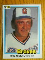 1981 DONRUSS CARD # 328 PHIL NIEKRO