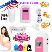 FDA US Pregnancy Baby fetus Heart Rate Monitor Fetal Doppler Recorder Sound, Gel