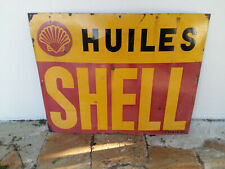 Ancienne Grande plaque émaillée SHELL  émaillerie Japy Neuhaus Paris  80x100cm