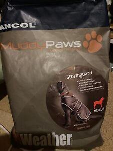 Ancol Muddy Paws Stormguard Dog Coat And Chest Protector Chocolate Medium