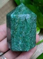 ONE (1) DARK GREEN AVENTURINE Chunky Abstract Wand Crystal Charged *Read Below*