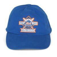 New York METS 1986-2011 Championship Anniversary Baseball Cap Hat One Size
