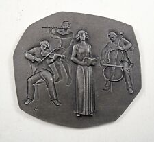 More details for vintage german heinrich moshage musical theme iron wall plaque