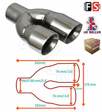 """UNIVERSAL STAINLESS STEEL EXHAUST TAILPIPE 2.5"""" YFX-0402-SP3L LEFT-Volvo 1"""