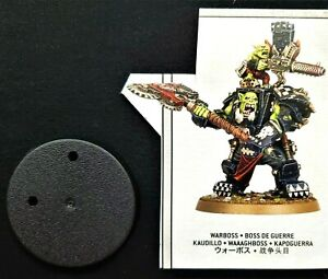 Warhammer 40K Orks Warboss in Mega Armor Ork Combat Patrol - Armour Grot Shoota