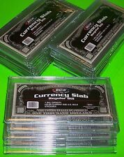 25 DELUXE CURRENCY SLABS REGULAR BILL -RIGID, HOLDS 1 U.S. BILL & OTHER CURRENCY