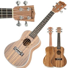 "New 23"" 17 Frets Rosewood Exquisite Zebra Wood Concert Ukulele 4 Strings Guitar"