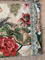 Pair Custom Scalamandre Le Touvet Botanical Pillow Shams Fabric Made In France