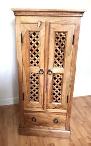 Sheesham Jali Mango Indian Cupboard Unit Cabinet ( Collection Only )