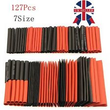 127Pcs Black&Red Heat Shrink Tubing Kit Wire Electrical Sleeving Tube