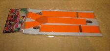 Art.carnevale BRETELLE CLOWN ARANCIONE  FLUO cod.10960
