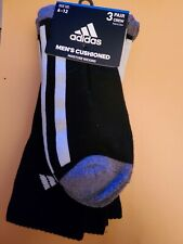 Adidas Socks large black crew. 3 pairs
