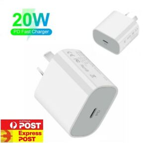20W USB Type-C Wall Adapter Fast Charger PD Power For iPhone 13 12 11 AU Plug