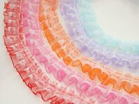 5 Meters Double Layer Ruffle Unilateral Lace Tulle Ribbon Trim 25mm Sewing