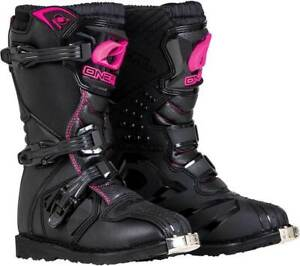 2020 Oneal Motocross/Offroad Rider YOUTH Boots BLACK & PINK SIZE k12