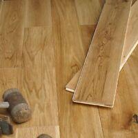 125mm Golden Oak Brushed & Matt Lacquered Solid Engineered Flooring ECH5