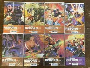 Heroes Reborn #1-7 + Return One Shot - Marvel Comics 2021 Full Set Jason Aaron