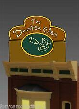 Miller ENGINEERING The Drunken Clam FAMILY GUY TAVERN Neon Sign  #88-0801 O/HO