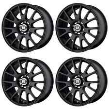 MOTEGI RACING MR118 MR11878012745 RIMS SET OF 4 17X8 45MM OFFSET 5x4.5 M-BLACK