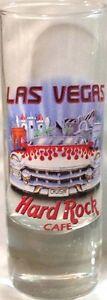 "Hard Rock Cafe LAS VEGAS 2004 City Tee T-Shirt 4"" SHOT GLASS Cordial GLASSWARE"