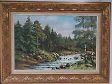 Großes Bild, Gemälde, Ölgemälde, Wandbild, gemalt, handgemalt, Wald Natur, Fluss
