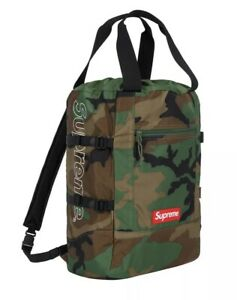 Supreme SS19 Cordura SOLD OUT Tote Backpack Woodland Camo 100% Authentic