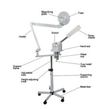 2in1 5X Magnifying Lamp with white light + UV ozone facial steamer beauty salon